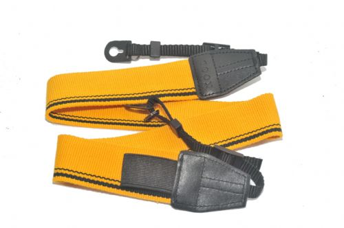 Kood High Quality Retro Style DSLR Camera Neck / Shoulder Strap Yellow/Black
